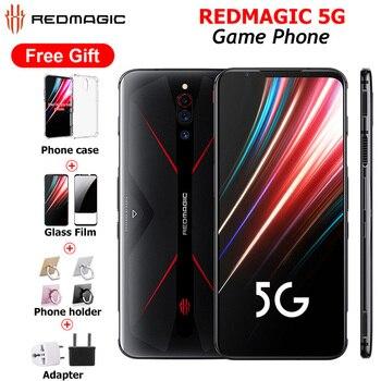 Купить Глобальная версия Nubia Red Magic 5G 12 Гб 256 ГБ игровой смартфон 128 ГБ 8 ГБ 6,65 дюймSnapdragon 865 NFC Redmagic 5G игровой мобильный телефон