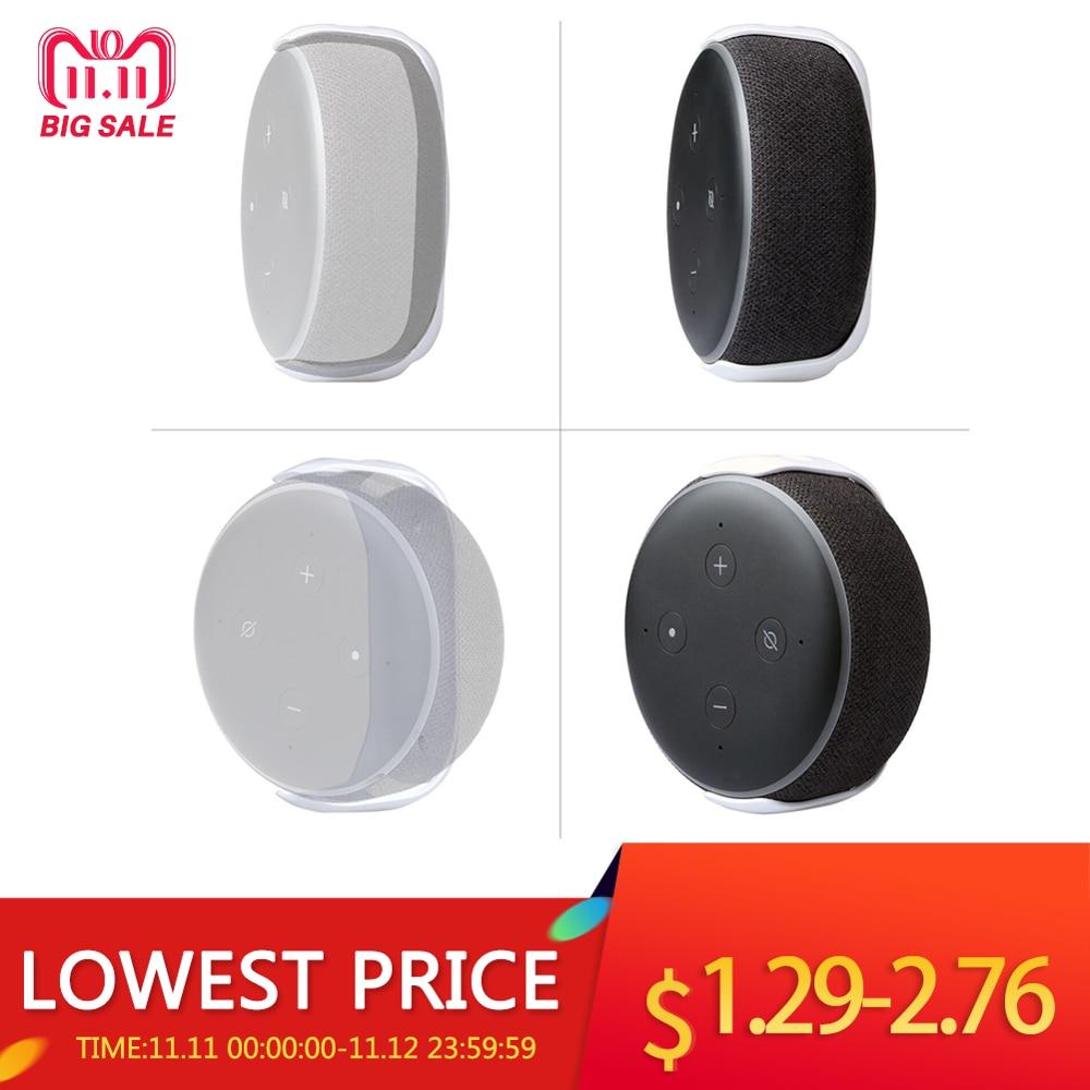 For Amazon Echo Dot 3 Wall Mount Intelligent Audio Bracket Outlet Hanger Holder Bracket For Echo Dot (3rd Gen) Smart Speaker