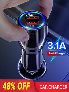 GETIHU 18W 3.1A Car Charger Dual USB Fast Charging QC Phone Charger Adapter For iPhone
