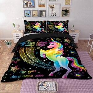 Cartoon Rainbow unicorn Home T