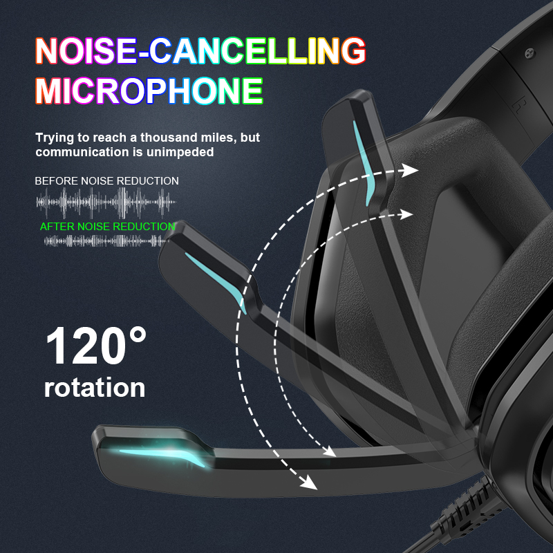 playstation 5 xbox um telefone pc wired gaming headset