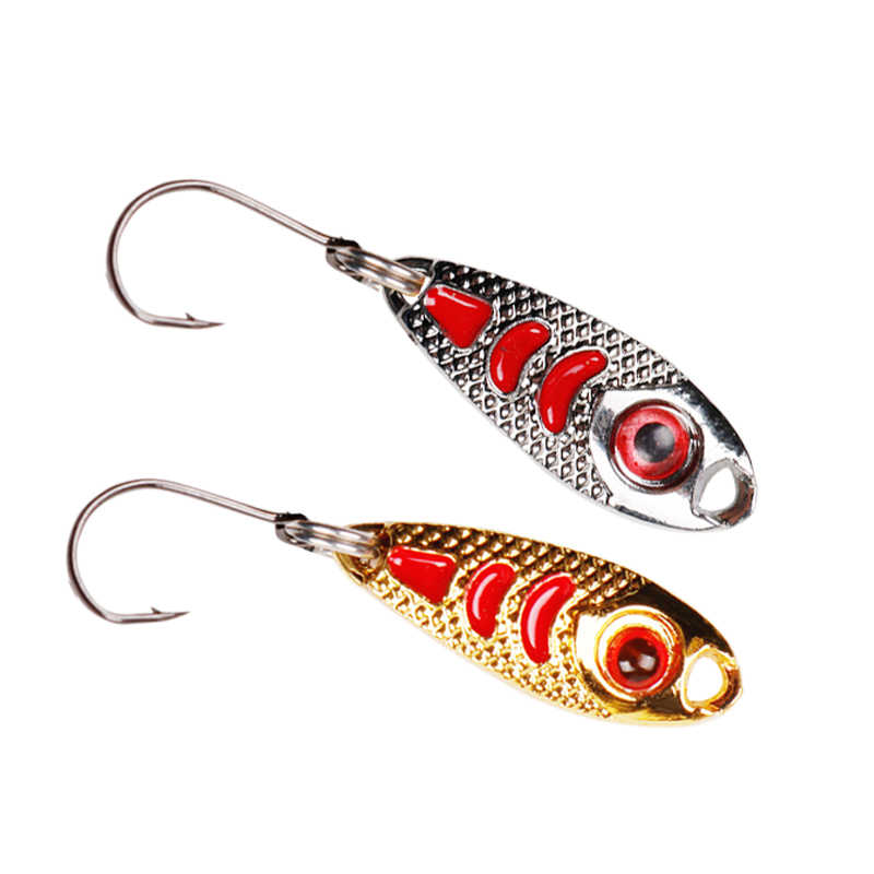 4pcs//lot Metal Spoon Fishing Lure Spinner 1.5g//2.5g//3.5g Crank Bait Bass Trout