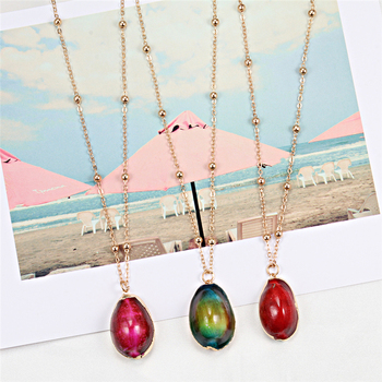 Bohemian Cowrie Shell Pendant Necklace Coker for Women Fashion Beach Colorful Conch Seashell Necklaces Female Boho Shell Jewelry image