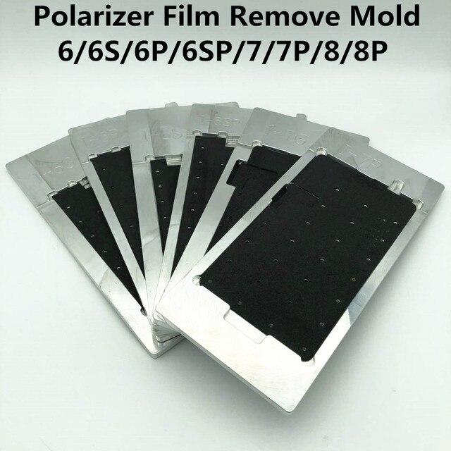 Película polarizadora LCD para reparación de eliminación de película, molde para 6/6S/6P/6SP/7/7P/8/8P, pantalla LCD de calentamiento, adsorción, polarizador
