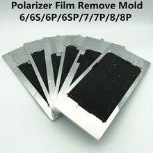Polarizer LCDฟิล์มลบแม่พิมพ์สำหรับ 6/6S/6P/6SP/7/7P/8/8PจอแสดงผลLCDเครื่องทำความร้อนการดูดซับPolarizerฟิล์มถอดซ่อม