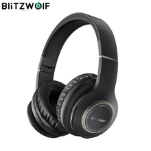 Auriculares inalámbricos BlitzWolf BW HP0 con Bluetooth, auriculares plegables sobre la oreja con micrófono para PC, teléfono móvil, Mp3