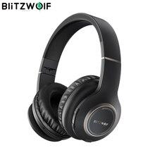 Blitzwolf BW HP0 fones de ouvido sem fio bluetooth fone de ouvido dobrável sobre orelha fones de ouvido com microfone para pc celular mp3