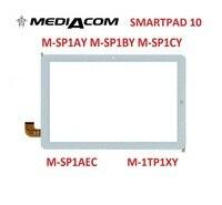 10.1 인치 태블릿 터치 스크린 Mediacom M-SP1AEC M-SP1AY M-SP1BY M-SP1CY 터치 패널 디지타이저 유리 센서 교체