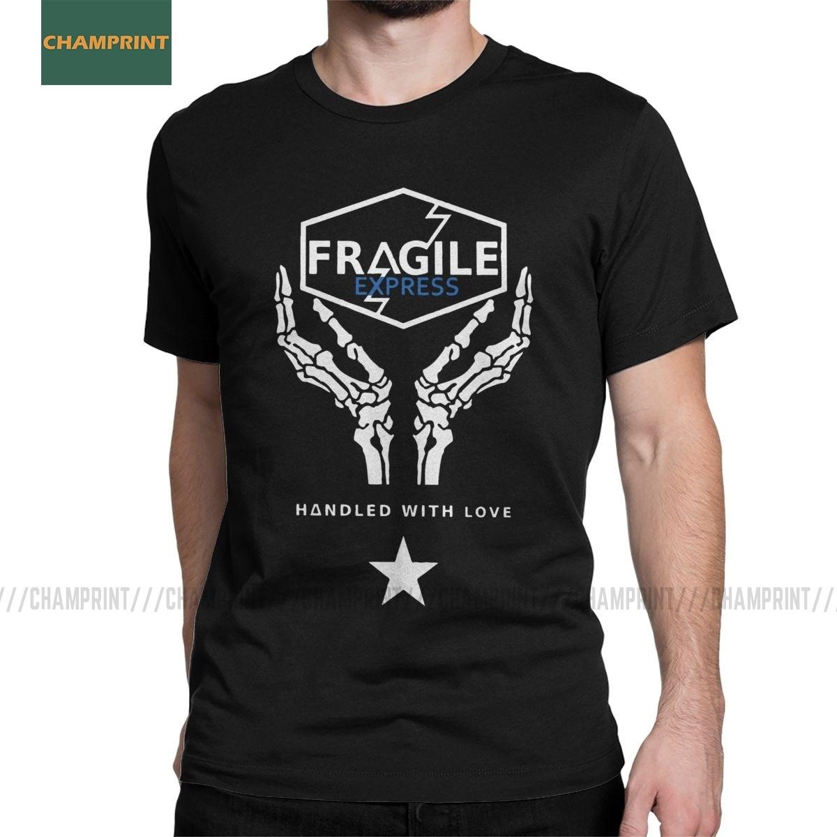 Fragile Express Death Stranding Men T Shirts Kojima Hideo Metal Gear Solid Reedus Norman Game Tees Short Sleeve T-Shirt Cotton