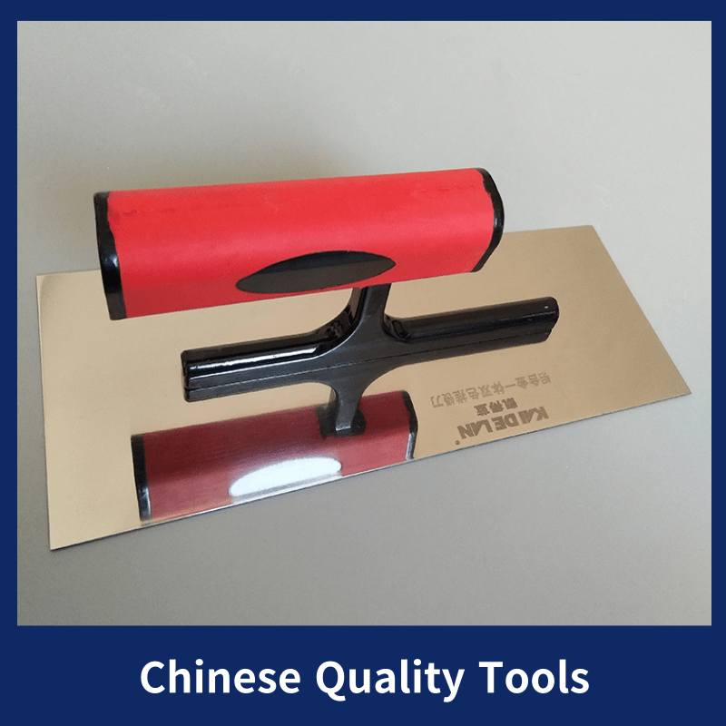 2pc 30 * 10 * 10cm High Quality Stainless Steel Mortar Board Home Craftsman Trowel Construction Holder Plastering Tool