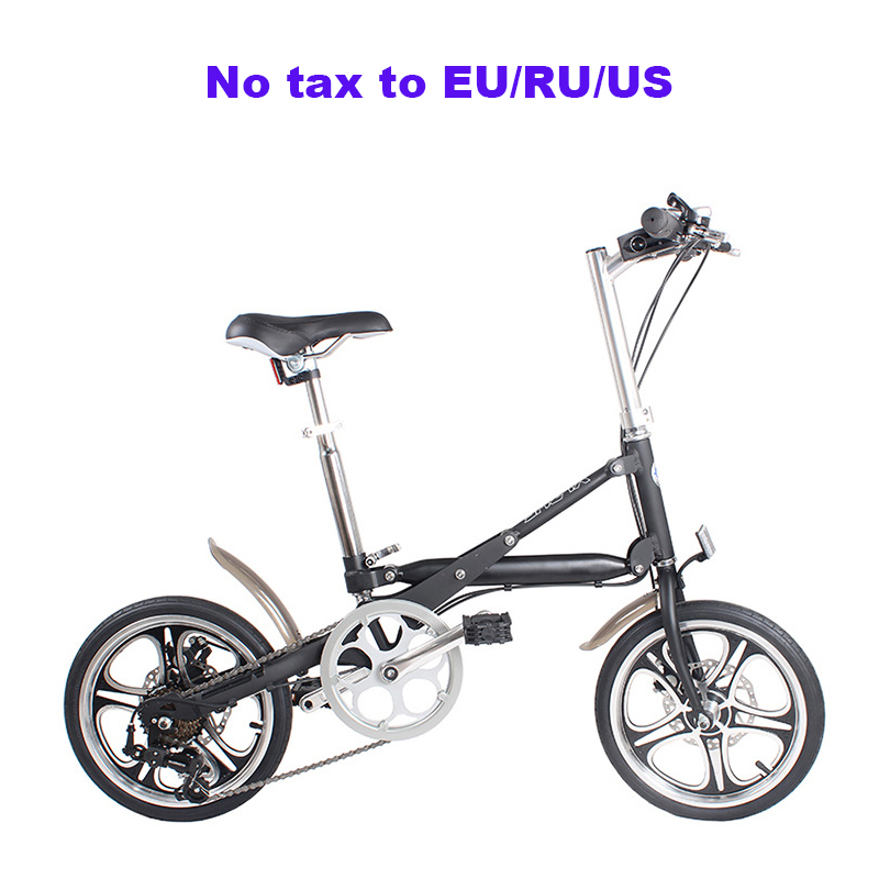 16-inch Folding Bicycle Aluminum Alloy 7 Speed Bike Double Disc Brake Adult Bicycle Light And Easy To Carry Folding Bicycle