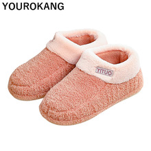 2019 Winter Men Shoes Warm Home Slippers Indoor Floor Furry Cotton Couple House Slipper Women Unisex Soft Plush Lovers Footwear burst dog cartoon indoor slippers women men winter thicken plush warm soft slipper cute unisex cotton house shoes cover heel