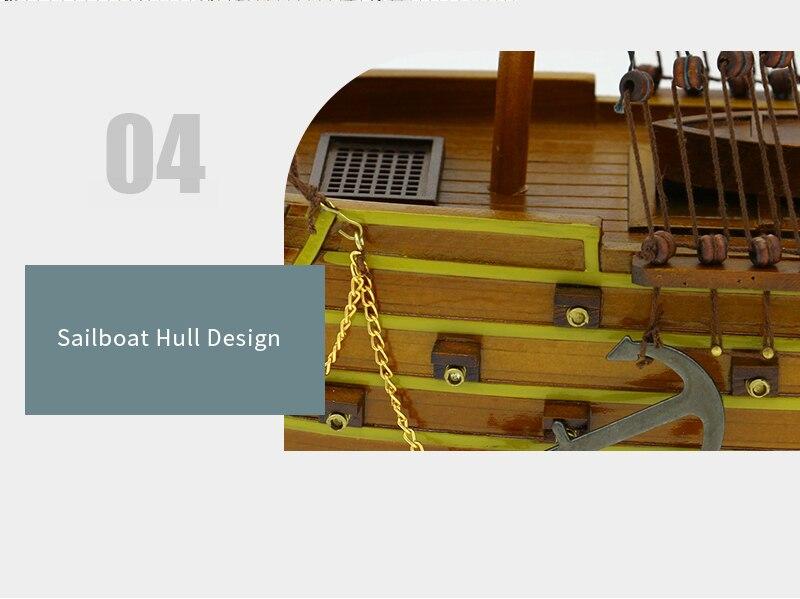 navio de madeira modelo navio de guerra