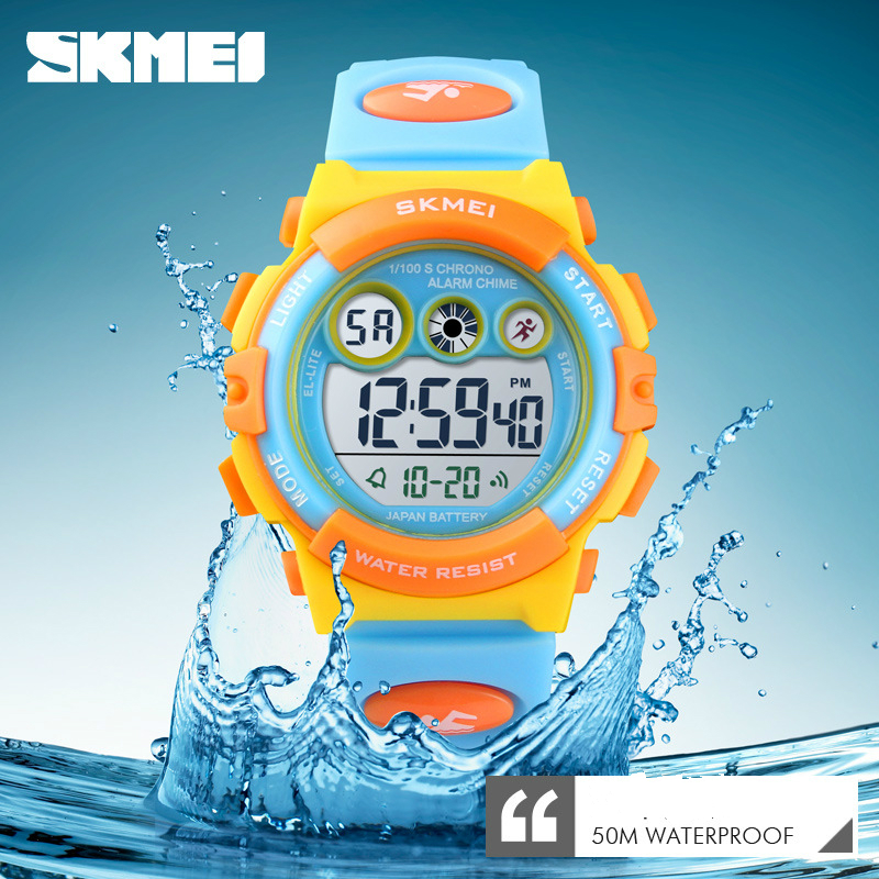 <font><b>Skmei</b></font> Kids Sport Watches Boys Girls Child Digital Clock LED Electronic WristWatch Wrist Watch For Boy Girl Christmas Gift image