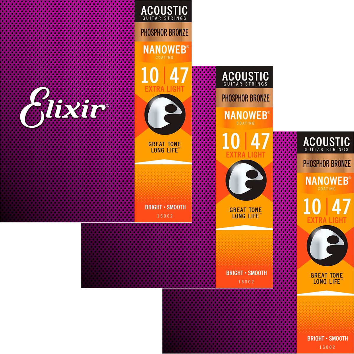 ELIXIR 16152 Nanoweb Phosphor Bronze Light 12String ❘ Gitarrensaiten ❘ .010-.047