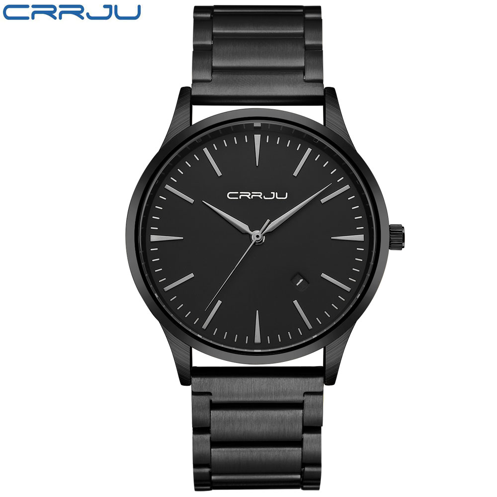 Winter Sale Clearance Black Business Men Male Luxury Watch Casual Full Steel Wristwatches Quartz Watches Relogio Masculino