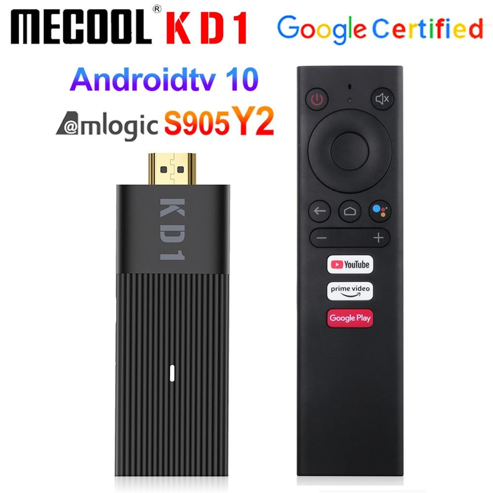 Mecool kd1 tv vara amlogic s905y2 caixa de tv android 10 2gb 16gb apoio google certificado voz 1080p 4k 2.4g & 5g wifi bt tv dongle|TV Stick|   -