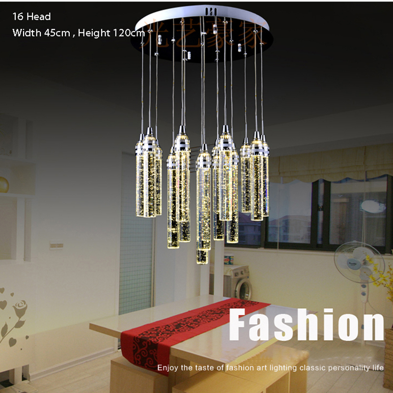 Пузырьковый Хрустальный подвесной светильник, современный светодиодный подвесной светильник, подвесной светильник для салона