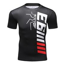 Футболка мужская компрессионная, тренировочная рубашка с эмблемой MMA, для мускулов, UFC, BJJ