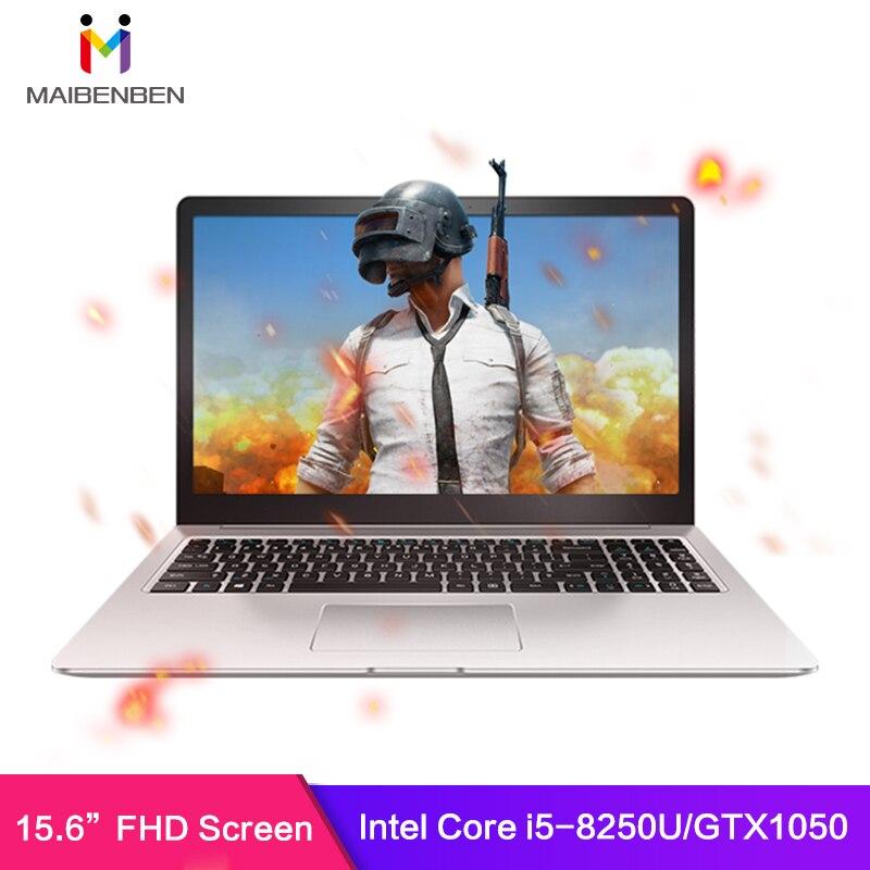 """MaiBenBen Damai 6S для игрового ноутбука i5-8250U+ GTX1050 4G видеокарта/8G ram/240G SSD/Dos/15,"""" ADS HD экран ноутбука"""