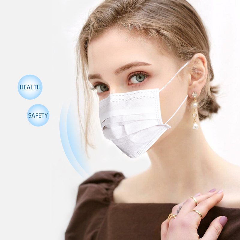 Classic White Non-Woven Masks Protection Masque Three-layer Filter Mouth Unisex DROPSHIPPIN Mouth Face Mask