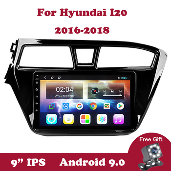Android 9.0 Quad-core 2.5D Autoradio Multimedia Player For Hyundai I20 2016 2017 2018 9 inch IPS No 2din Left Hand Drive Wifi BT image
