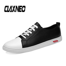 Buy CLAXNEO Man Shoes Fashion Casual Leather Shoe Male Walking Footwear Design Mens White Shoe Big Size directly from merchant!