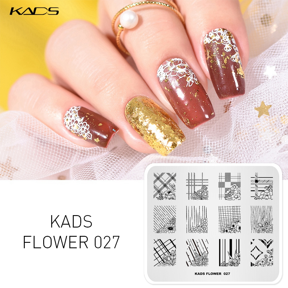 Image 3 - KADS Nail Stamping Plates 38 Design Various Series More Choices Manicure Stamping Template Image Plates For DIY Nail Decoration-in Nail Art Templates from Beauty & Health