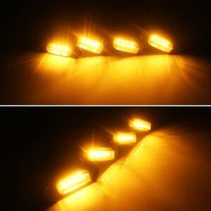Image 4 - 4 Stuks Gerookte Lens Amber Led Grille Licht Samenstellingen Met Kabelboom Kit Voor 16 Up Toyota Tacoma W/Trd Pro Grill 12V
