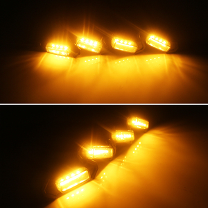 Image 4 - 4pcs Smoked Lens Amber LED Front Grille Light assemblies with Wiring Harness Kit For 16 up Toyota Tacoma w/TRD Pro Grill 12V