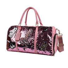 BELLELIFE Leather Sequin Travel Bags for WOMEN Large Capacity Luggage Duffle Bag Waterproof Fitness Bags WOMEN's HandBags Bolsa