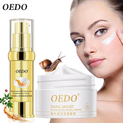 Hyaluronic acid ginseng eye cream anti puffy wrinkles dark circles+Snail Face Cream Moisturizing Anti Wrinkle Anti Aging Cream