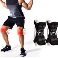Proteção do joelho reforço apoio de energia joelheiras poderoso rebote primavera força esportes reduz a dor velho frio perna proteção