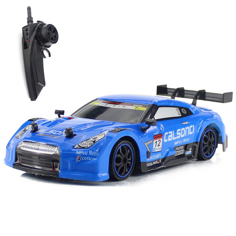 1 16 4WD Drive Fast Drift Car Remote Control GTR Car 2 4G Radio Control Off road Car RC car Drift High speed Car Model Toys in RC Cars from Toys Hobbies