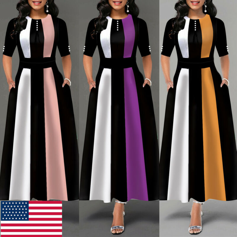 Vintage Dress Hot 2019 Women Stretchy Striped Package Bodycon Bandage Dress Girls Club Party Dress Long Maxi Warm Winter Dress