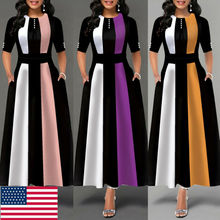 Vintage Dress Hot 2019 Women Stretchy Striped Package Bodycon Bandage D