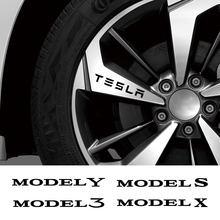Autocollants imperméables en vinyle de voiture Auto jante de roue Sport style autocollants réfléchissants pour Tesla P100D modèle 3 S X Y bricolage accessoires de décoration