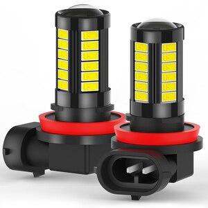 2x 1000LM Canbus H11 H9 H8 Led Lens Fog Lamp For Hyundai I30 I40 Solaris Elantra Sonata Getz Tucson Accent NO ERROR 12V Daylight