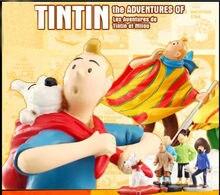 2021 chegada nova as aventuras de tintin tintin e milou pvc figura de ação collectible modelo brinquedo