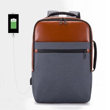 Casual Computer Bag Men Travel Backpack Large Capacity Waterproof Oxford Double Shoulder Bag Business Laptop Backpack