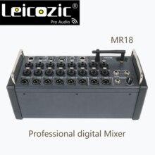 Leicozic MR18 18 вход Цифровой микшерный пульт для iPad/Android планшетов с 16 PRO предусилителей, встроенный Wifi и многоканальный USB