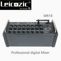 Leicozic MR18 18 Input Digital Mixing console for iPad/Android Tablets with 16 PRO Preamps, Integrated Wifi & Multi-Channel USB