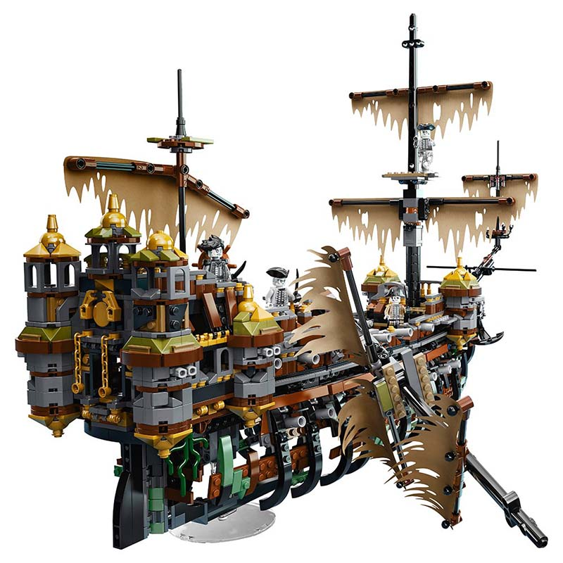 71042 lepining Silent Mary Pirates of The Caribbean Movie Captain Jack 16042 Model Building Block Bricks Toys Children Gift