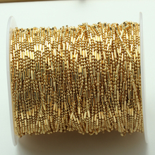 1meter/lot Metal Bead Ball Chains Width1.5mm Gold Necklace Chain DIY Handmade Materials For Jewelry Making Bulk Chain Findings 5m lot 1 5mm metal ball bead chains 7colors ketting kettingen bulk bulk iron chains for diy jewelry accessories