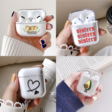 Heart Angel Queen Rose Avocado Earphone Case For Apple iPhone Charging Box For A