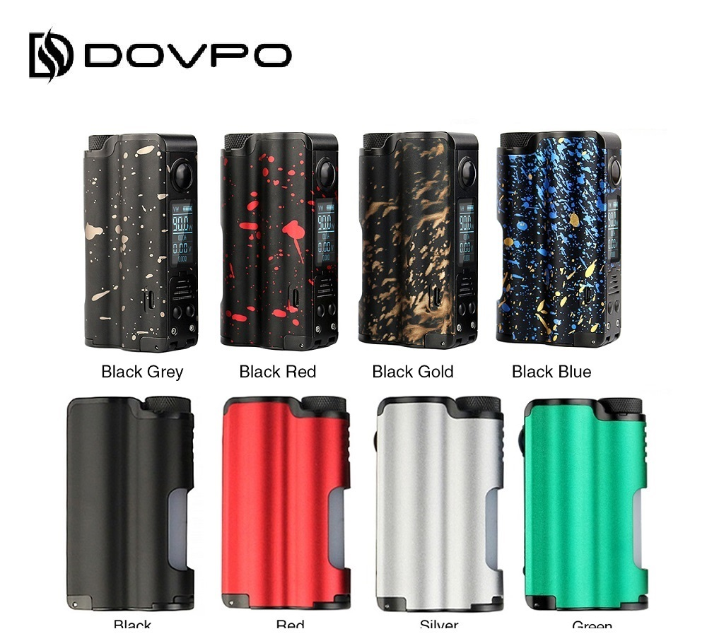 Gift! Original 90W DOVPO Topside TC Squonk MOD with 10ml Bottle Powered By 21700/18650 Battery Vape BOX MOD VS Rage Mod / Drag 2
