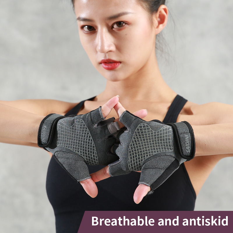 Sports gloves, fitness gloves, male wrist guards, male sprain protection, wrist protection, non-slip horizontal bar gloves