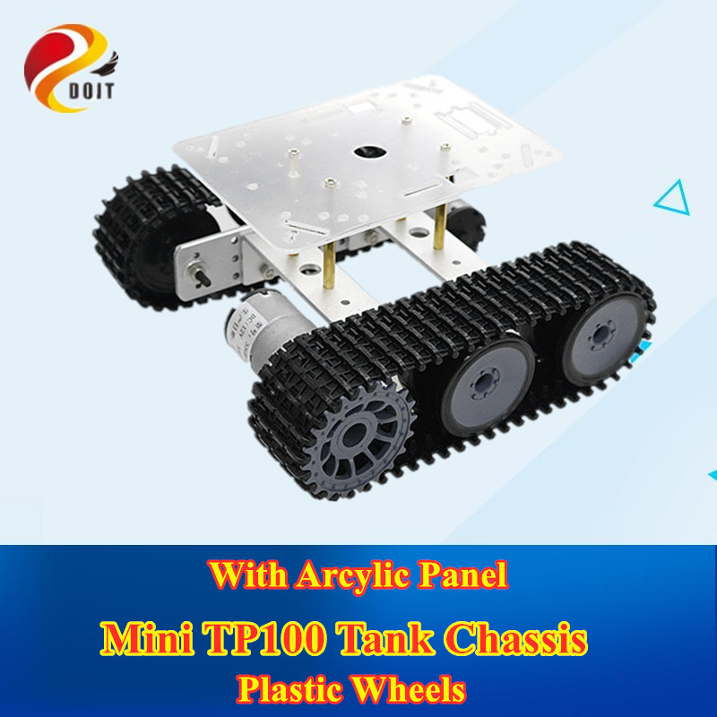 Rc metal robô tanque chassi mini lagarta tp100 lagarta veículo com pista de plástico para arduino diy kit educacional