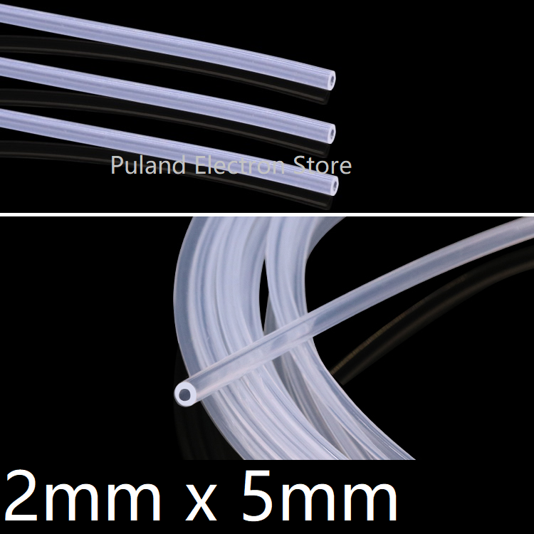 Transparent ID 2mm X 5mm OD Silicone Tubing Food Grade Flexible Drink Hose Pipe Temperature Resistance Nontoxic Environmental