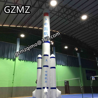 MZQM advertising super giant inflatable rocket space missile replica model for event,free air ship to door